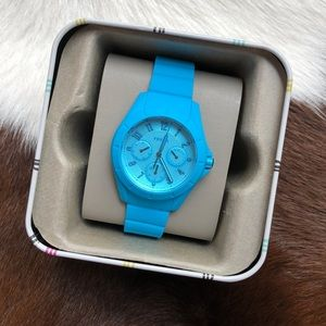 Baby Blue Rubber Fossil Watch